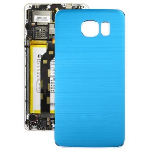 Metal Wire Drawing Battery Back Cover for Galaxy S6(Blue)