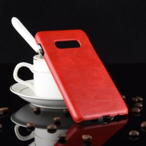 Shockproof Litchi Texture PC + PU Case for Galaxy S10e(Red)