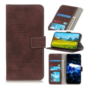Crocodile Texture Horizontal Flip Leather Case for Galaxy A40, with Holder & Wallet & Card Slots & Photo Frame (Brown)