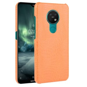 For Nokia 7.2 / 6.2 Shockproof Crocodile Texture PC + PU Case(Orange)