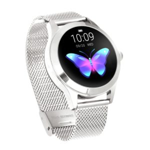 KW10 1.04 inch TFT Color Screen Smart Watch IP68 Waterproof,Metal Watchband,Support Call Reminder /Heart Rate Monitoring/Sedentary reminder/Sleep Monitoring/Predict Menstrual Cycle Intelligently(Silver)