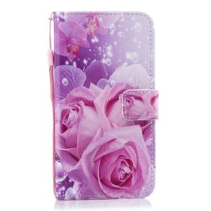 Rose Pattern Horizontal Flip Leather Case for Huawei Enjoy 9s, with Holder & Card Slots & Wallet