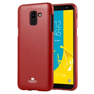 GOOSPERY JELLY Liquid TPU Drop Protection Soft Shell for Galaxy J6(Red) (GOOSPERY)