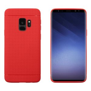 For Galaxy S9 Honeycomb Texture Soft TPU Protective Back Case(Red)