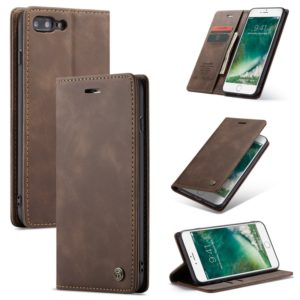 CaseMe-013 Multifunctional Retro Frosted Horizontal Flip Leather Case for iPhone 7 Plus / 8 Plus, with Card Slot & Holder & Wallet(Coffee) (CaseMe)