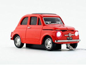 MOUSE WIRED OPTICAL CLICK CAR FIAT 500 OLD RED CCM660035 ΟΠΤΙΚΟ ΠΟΝΤΙΚΙ