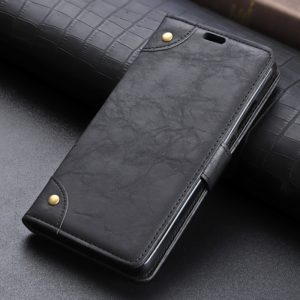 Copper Buckle Retro Crazy Horse Texture Horizontal Flip Leather Case for Xiaomi Pocophone F1, with Holder & Card Slots & Wallet(Black)