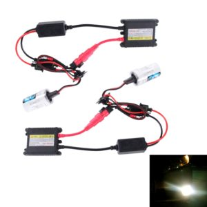 2PCS 35W HB3/9005 2800 LM Slim HID Xenon Light with 2 Alloy HID Ballast, High Intensity Discharge Lamp, Color Temperature: 6000K