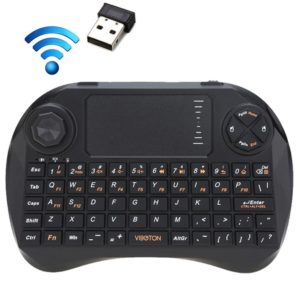 VIBOTON X3 83-keys QWERTY 2.4GHz Mini Wireless Keyboard with Touchpad & 3 LED Indicator for PC / Pad / Android / Google TV Box / XBOX360 / PS3 / HTPC / IPTV(Black) (VIBOTON)