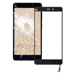 Front Screen Outer Glass Lens for Xiaomi Mi Note(Black)