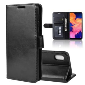 R64 Texture Single Fold Horizontal Flip Leather Case for Galaxy A10E, with Holder & Card Slots & Wallet(black)