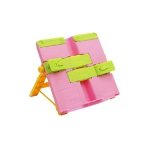 2 PCS Creative Folding Bookshelf Upgraded Portable Folding Student Book Stand Book Holder(Pink)