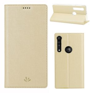 For Motorola Moto G8 Play ViLi Shockproof TPU + PU Horizontal Flip Protective Case with Card Slot & Holder(Champagne Gold) (ViLi)