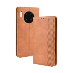 Magnetic Buckle Retro Crazy Horse Texture Horizontal Flip Leather Case for Huawei Mate 30 , with Holder & Card Slots & Photo Frame(Brown)