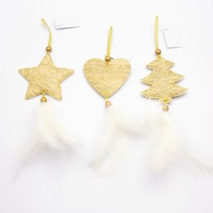 2 Packs Christmas Tree Closet Accessories Scene Decoration, Style:Set(Gold)