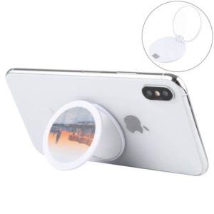 Pasteable Universal Round Mobile Phone Holder with Mirror(City View)