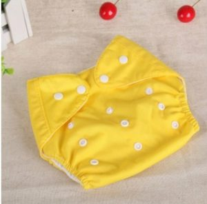 Baby Cloth Reusable Diapers Nappies Washable Newborn Ajustable Diapers Nappy Changing Diaper Children Washable Cloth Diapers, Size:Thin(Yellow)