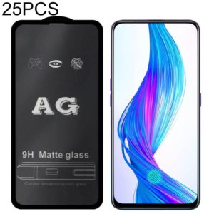 25 PCS AG Matte Frosted Full Cover Tempered Glass For OPPO Reno Z