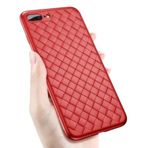 Baseus for iPhone 8 Plus & 7 Plus Weave Style Ultra-thin TPU Soft Protective Back Cover Case(Red) (Baseus)