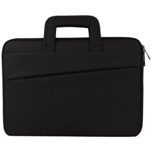 Universal Double Side Pockets Wearable Oxford Cloth Soft Handle Portable Laptop Tablet Bag, For 14 inch and Below Macbook, Samsung, Lenovo, Sony, DELL Alienware, CHUWI, ASUS, HP(Black)