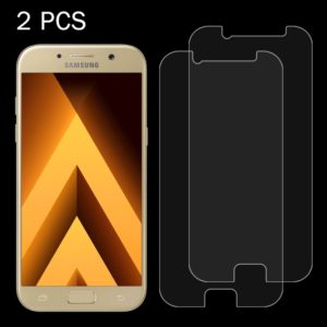 2 PCS for Galaxy A7 (2017) / A720 0.26mm 9H Surface Hardness 2.5D Explosion-proof Tempered Glass Non-full Screen Film