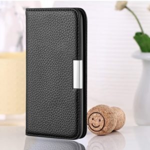 For Xiaomi Redmi 6A Litchi Texture Horizontal Flip Leather Case with Holder & Card Slots(Black)