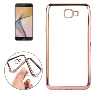 For Galaxy J7 Prime Electroplating Soft TPU Protective Cover Case (Rose Gold)