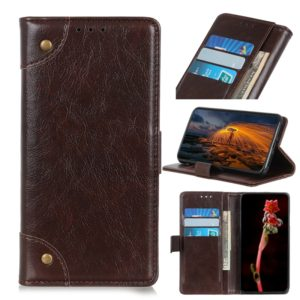 Copper Buckle Nappa Texture Horizontal Flip Leather Case for Wiko VIEW 3 Pro, with Holder & Card Slots & Wallet (Coffee)