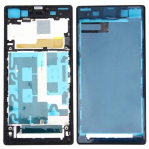 Front Housing LCD Frame Bezel Plate for Sony Xperia Z1 / C6902 / L39h / C6903 / C6906 / C6943(Black)