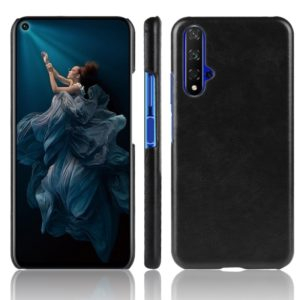 Shockproof Litchi Texture PC + PU Case For Huawei Honor 20(Black)