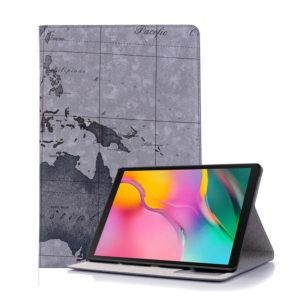 Map Texture Horizontal Flip Leather Case for Galaxy Tab S5e 10.5 T720 / T725, with Holder & Card Slots & Wallet, Random Texture Delivery