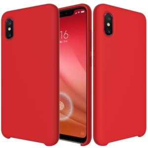 Solid Color Liquid Silicone Dropproof Protective Case for Xiaomi Mi 8 Pro (Red)
