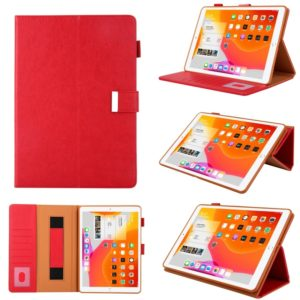 For iPad mini 1 / 2 / 3 / 4 / 5 Business Style Horizontal Flip Leather Case with Holder & Card Slot & Photo Frame & Wallet & Hand Strap & Sleep / Wake-up Function(Red)