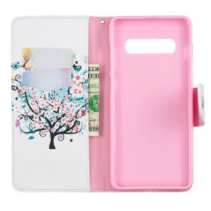 Colored Drawing Pattern Horizontal Flip Leather Case for Samsung Galaxy S10 Plus,with Holder & Card Slots & Wallet(Tree)