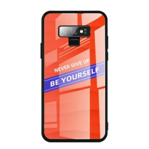 For Galaxy Note 9 Shockproof PC + TPU + Glass Protective Case(Orange)