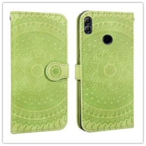 For Huawei P20 Lite Pressed Printing Pattern Horizontal Flip PU Leather Case with Holder & Card Slots & Wallet & & Lanyard(Green)