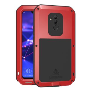 LOVE MEI Powerful Dustproof Shockproof Metal + Silicone Combination Case for Huawei Mate20 Lite(Red) (LOVE MEI)