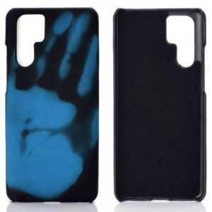 Paste Skin + PC Thermal Sensor Discoloration Protective Back Cover Case for Huawei P30 Pro(Blue)