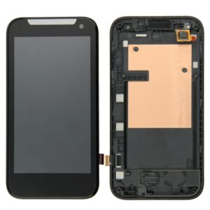 LCD Screen and Digitizer Full Assembly with Frame for HTC Desire 310 (Single Card)(Black)