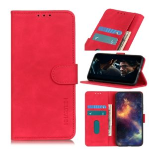 For Galaxy A51 Retro Texture PU + TPU Horizontal Flip Leather Case with Holder & Card Slots & Wallet(Red)