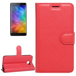 For Xiaomi Note 2 Litchi Texture Horizontal Flip Leather Case with Holder & Card Slots & Wallet (Red)