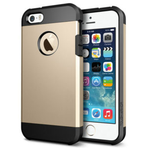 Tough Armor Plastic + TPU Combination Case for iPhone 5 & 5S(Gold)