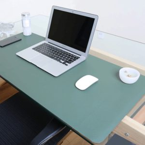 Multifunction Business Double Sided PVC Leather Mouse Pad Keyboard Pad Table Mat Computer Desk Mat, Size: 80 x 40cm(Green + Silver)