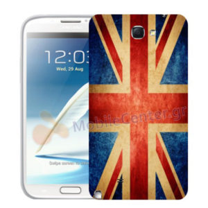 Silicone Case With UK Flag for Samsung Galaxy Note 2 N7100