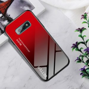 Shockproof Tempered Glass + TPU Case For Galaxy S10e(Black Red)