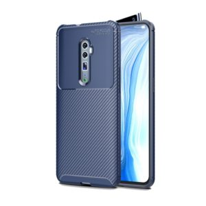 Beetle Series Carbon Fiber Texture Shockproof TPU Case for oppo reno (Zoom version)(Blue)