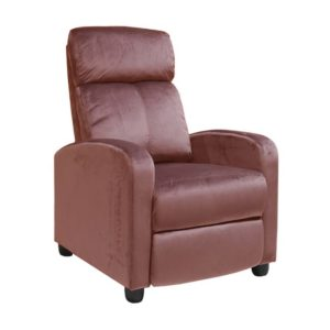 PORTER Πολυθρόνα Relax Antique Pink Velure