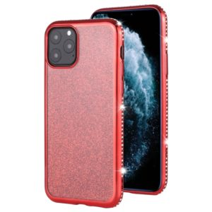 For iPhone 11 Pro Diamond Encrusted Flash Powder TPU Case(Red)