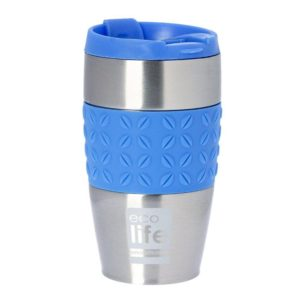 Ecolife Coffee Silicone θερμός cup μπλε κούπα 400ml
