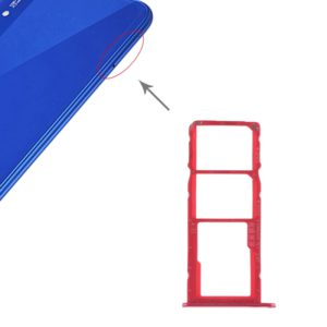 SIM Card Tray + SIM Card Tray + Micro SD Card for Huawei Honor Play 8A (Red)